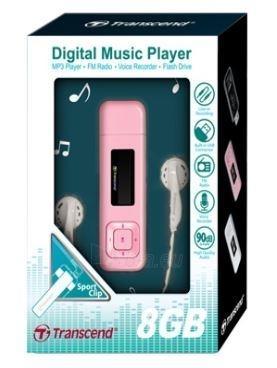 MP3 grotuvas Transcend MP330 8GB Rožinis, FM radijas, 1 OLED ekranas Paveikslėlis 2 iš 2 250218000415