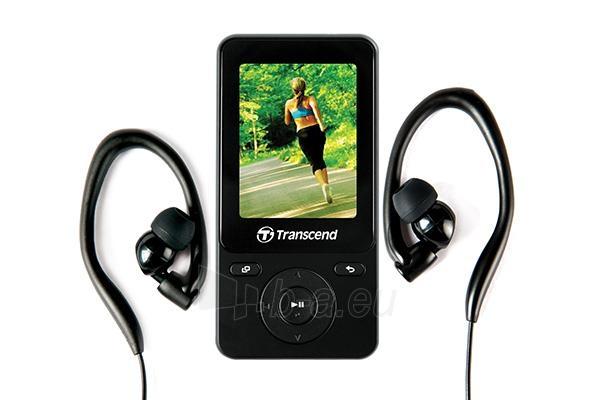 MP4 grotuvas Transcend MP710 2 8GB, FM, microUSB, Fitness Tracker, Juodas Paveikslėlis 2 iš 3 310820013565