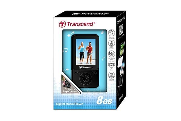 MP4 grotuvas Transcend MP710 2 8GB, FM, microUSB, Fitness Tracker, Juodas Paveikslėlis 3 iš 3 310820013565