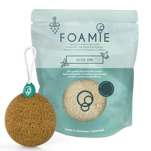 Muilas Foamie Gentle cleansing sponge and Aloe Spa soap Paveikslėlis 1 iš 4 310820143579