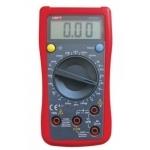 Multimetras skaitmeninis, įtampa DC 200mV-600V, AC 200V-600V, srovė DC 2000uA-10A, varža 200-20 megaomai, diodų testavimas, temperatūros, nuolatinės grandinės, talpos matavimas, CATII, UT132C UNI-T Paveikslėlis 1 iš 1 310820055966
