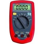 Multimetras skaitmeninis, įtampa DC 400mV-250V, AC 4V-250V, srovė DC/AC 400uA-10A, varža 400-40 megaomai, diodų testavimas, tranzisorių, nuolatinės grandinės matavimas, CATII, UT33A UNI-T Paveikslėlis 1 iš 1 310820055967