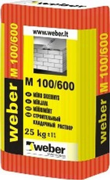 Masonry mortar Weber M100/600LT grey 25kg Paveikslėlis 1 iš 1 236750000099