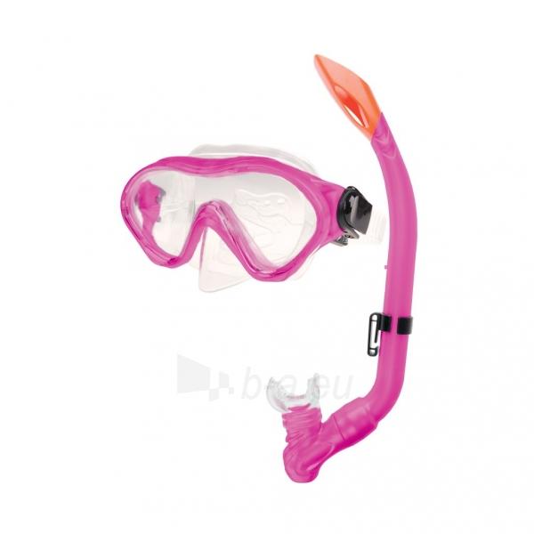 Nardymo kaukė su vamzdeliu Cayman junior pink Paveikslėlis 1 iš 1 310820103969
