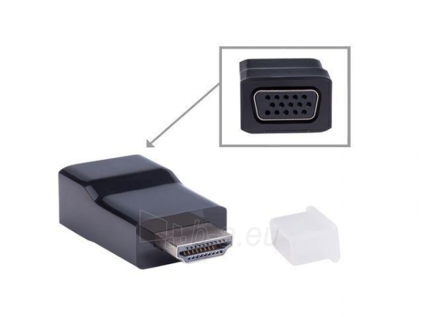 Natec adaptor HDMI-A(M) -> VGA (F), Natec Extreme Media (Blister) Paveikslėlis 1 iš 4 250255081471