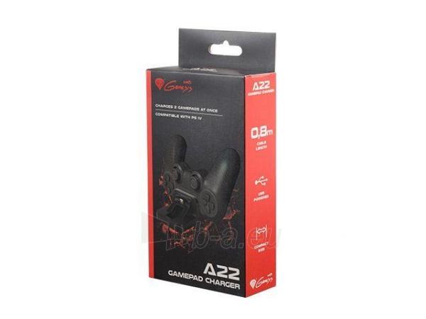 Natec Genesis PS4 Gamepad paidimų pultelių krovimo stotis A22 (charging 2 gamepads at once) Paveikslėlis 5 iš 5 310820044345