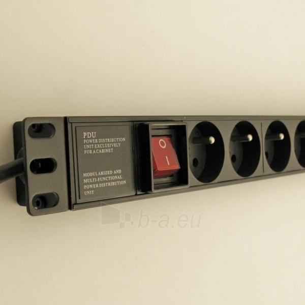 Netrack maitinimo panelė 19 1U, 230V/16A, 8xE, ALU Paveikslėlis 2 iš 6 250254301258