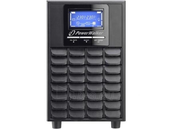 Power Walker UPS On-Line 1000VA, 4x IEC, USB/RS-232, LCD, Tower Paveikslėlis 2 iš 2 250254301125