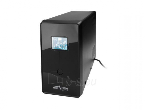UPS Energenie-Gembird Line-Interactive,1200VA,3xIEC,2xSchuko 230V,USB,RJ11,LCD Paveikslėlis 1 iš 2 250254301320