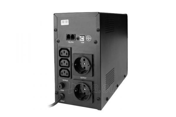 UPS Energenie-Gembird Line-Interactive,1200VA,3xIEC,2xSchuko 230V,USB,RJ11,LCD Paveikslėlis 2 iš 2 250254301320