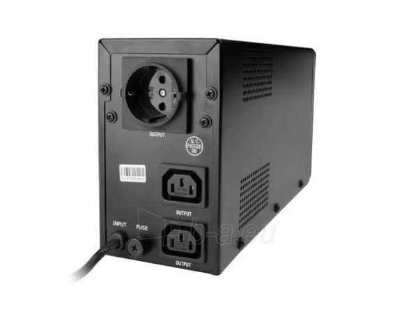 UPS Energenie-Gembird Line-Interactive,650VA,2xIEC,1xSchuko 230V OUT,LCD Paveikslėlis 3 iš 3 250254301041