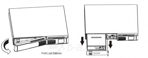 UPS Fideltronik-Inigo Lupus KR PRO On-line 3000 Rack (with battery) Paveikslėlis 3 iš 3 250254301291