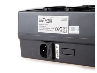 UPS Gembird Energenie Floor 850VA, LED, AVR,4x Schuko, 230V OUT,USB, RJ11 IN/OUT Paveikslėlis 3 iš 3 250254301230