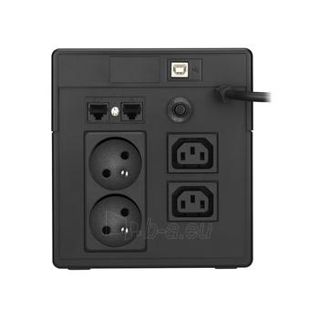 UPS Power Walker Line-Interactive 1000VA 2x 230V PL, 2x IEC, RJ11/RJ45, USB, LCD Paveikslėlis 2 iš 2 250254301231