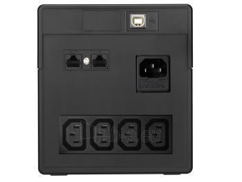 UPS Power Walker Line-Interactive 1000VA 4x IEC C13,PURE SINE, RJ11/RJ45,USB,LCD Paveikslėlis 2 iš 4 250254301009