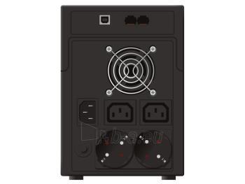UPS Power Walker Line-Interactive 1200VA 2x SCHUKO, 2x IEC C13, RJ11/RJ45, USB Paveikslėlis 2 iš 3 250254301013