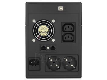 UPS Power Walker Line-Interactive 1500VA 2x SCHUKO, 2x IEC, RJ11/RJ45, USB, LCD Paveikslėlis 2 iš 4 250254301015