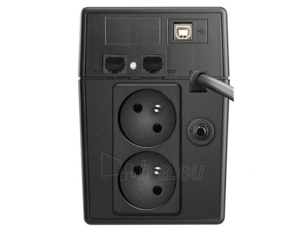 UPS Power Walker Line-Interactive 600VA 2x PL 230V, PURE SINE, RJ11/RJ45,USB,LCD Paveikslėlis 2 iš 4 250254300967