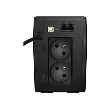 UPS Power Walker Line-Interactive 650VA 2x 230V PL, RJ11, USB, LCD Paveikslėlis 2 iš 4 250254300970