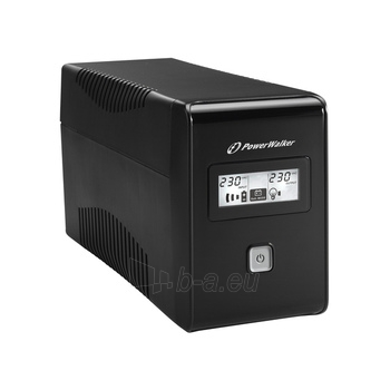 UPS Power Walker Line-Interactive 650VA 2x 230V PL, RJ11, USB, LCD Paveikslėlis 3 iš 4 250254300970
