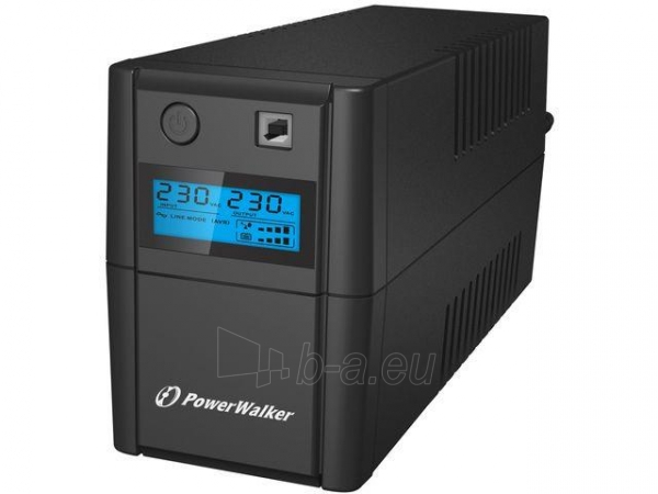UPS Power Walker Line-Interactive 650VA 2x 230V PL OUT, RJ11 IN/OUT, USB, LCD Paveikslėlis 1 iš 4 250254300969