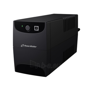 UPS Power Walker Line-Interactive 650VA 2x 230V PL OUT, RJ11 IN/OUT, USB Paveikslėlis 3 iš 3 250254300968