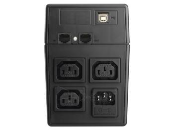 UPS Power Walker Line-Interactive 800VA 3x IEC C13, PURE SINE, RJ11/RJ45,USB,LCD Paveikslėlis 2 iš 4 250254300975