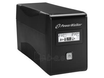 UPS Power Walker Line-Interactive 850VA 2x SCHUKO, RJ11, USB, LCD Paveikslėlis 4 iš 4 250254300979