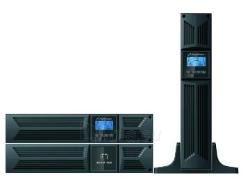 UPS Power Walker On-Line 1000VA, 19 2U, 8x IEC, RJ11/RJ45, USB/RS-232, LCD Paveikslėlis 3 iš 5 250254300982