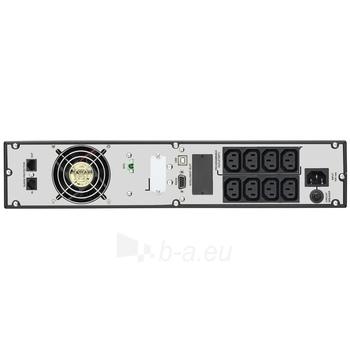 UPS Power Walker On-Line 1500VA, 19 2U, 8x IEC, RJ11/RJ45, USB, LCD Paveikslėlis 2 iš 3 250254300984