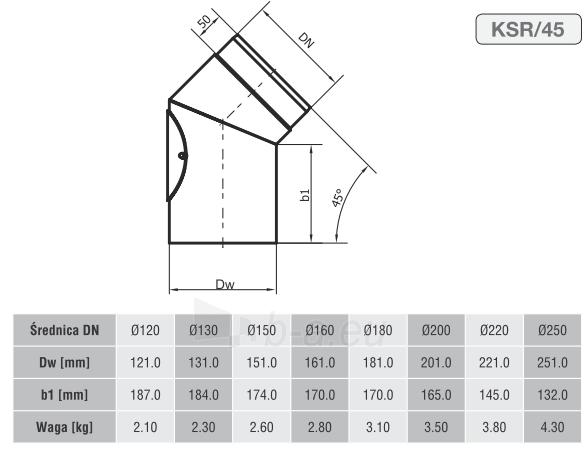 Nereguliuojama elbow 120/45 su pravala Paveikslėlis 2 iš 2 310820161470