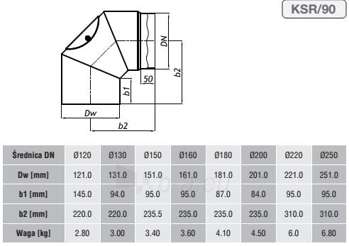 Nereguliuojama alkūnė 250/90 su pravala Paveikslėlis 2 iš 2 310820161644