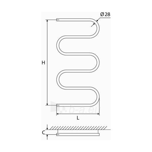 Nerūdijančio plieno gyvatukas Elonika EN 1050 S/SD Paveikslėlis 2 iš 4 270651000420