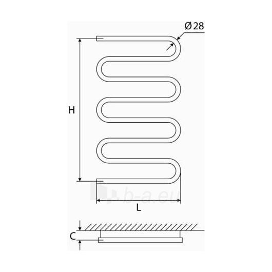 Nerūdijančio plieno gyvatukas Elonika EN 1060S Paveikslėlis 1 iš 4 270651000421
