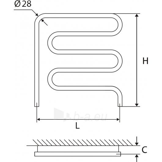 Nerūdijančio plieno gyvatukas Elonika EN 50X62 kairinis/dešinini Paveikslėlis 1 iš 4 270651000425