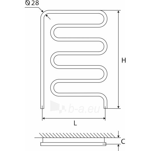 Nerūdijančio plieno gyvatukas Elonika EN 50X86 kairinis/dešinini Paveikslėlis 1 iš 4 270651000426