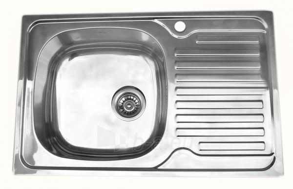 Nerūdijančio plieno plautuvė 7203 DEKOR dešinė su sifonu Paveikslėlis 1 iš 4 270712000595