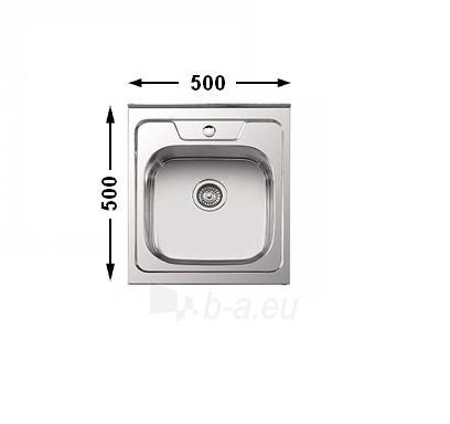 Nerūdijančio plieno plautuvė DEKOR 7404 uždedama su sifonu Paveikslėlis 1 iš 8 271524000102