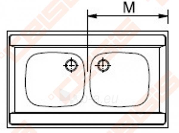 Nerūdijančio plieno plautuvė FRANKE uždedama DSN720 be ventilio (112-0006-172) Paveikslėlis 2 iš 2 270712000898