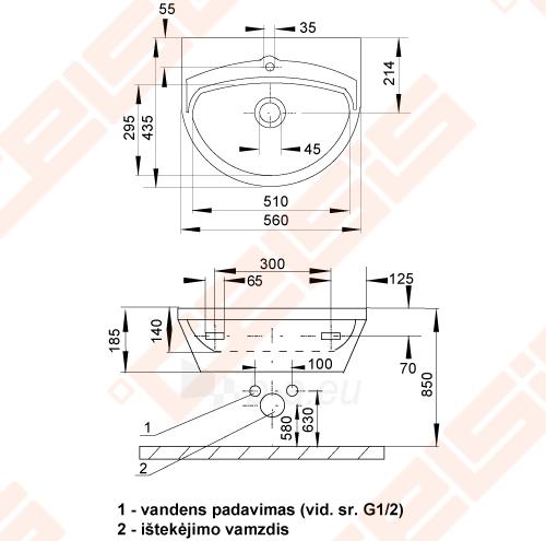 Nerūdijančio plieno plautuvė SANELA 56x43,5x18,5 Paveikslėlis 2 iš 2 271524000214