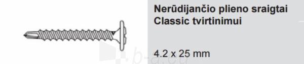 Nerūdijančio plieno sraigtai Classic tvirtinimui Ruukki® 4.2 x 25 mm (100 vnt./pak.) Paveikslėlis 1 iš 1 310820026917