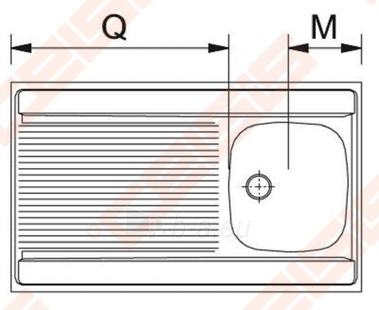 Nerūdijančio plieno universali plautuvė FRANKE uždedama DSN711 80x60 be ventilio (112-0008-398) Paveikslėlis 2 iš 2 271524000228