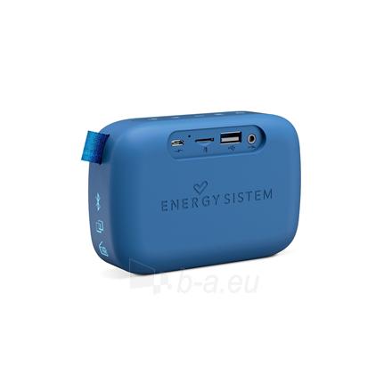 Nešiojama garso kolonėlė Energy Sistem Fabric Box 1+ Pocket 3 W, Portable, Wireless connection, Blueberry, Bluetooth Paveikslėlis 3 iš 5 310820221528