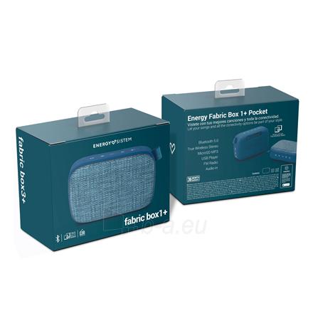 Nešiojama garso kolonėlė Energy Sistem Fabric Box 1+ Pocket 3 W, Portable, Wireless connection, Blueberry, Bluetooth Paveikslėlis 5 iš 5 310820221528