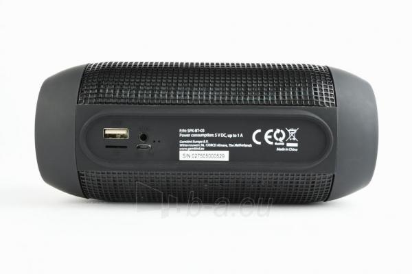 Nešiojama garso kolonėlė Gembird Bluetooth speaker with LED light effects, black, 5W, micro SD/USB/AUX Paveikslėlis 5 iš 8 310820147050