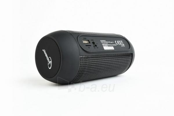 Nešiojama garso kolonėlė Gembird Bluetooth speaker with LED light effects, black, 5W, micro SD/USB/AUX Paveikslėlis 6 iš 8 310820147050