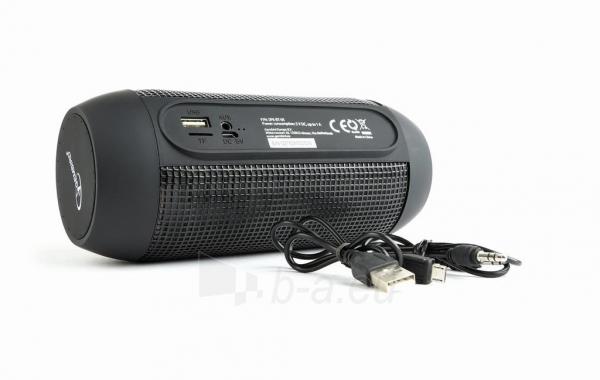 Nešiojama garso kolonėlė Gembird Bluetooth speaker with LED light effects, black, 5W, micro SD/USB/AUX Paveikslėlis 7 iš 8 310820147050