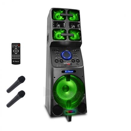 Nešiojama garso kolonėlė iDance Megabox 8000 1000 W, Portable, Wireless connection, Black, Bluetooth Paveikslėlis 1 iš 3 310820162615