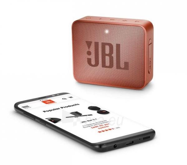Nešiojama garso kolonėlė JBL GO 2 cinnamon Paveikslėlis 5 iš 6 310820167500