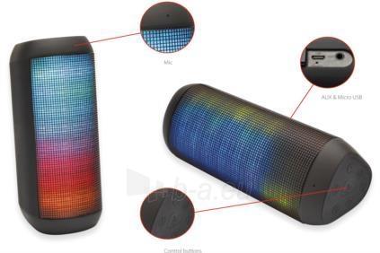 Nešiojama kolonėlė EDNET SONAR II LED Bluetooth® Speaker, 7W, 2200mAh, IPX4 Paveikslėlis 4 iš 6 310820053899